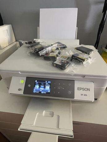 Impressora Multifunçōes EPSON XP 455 + 8 tinteiros novos