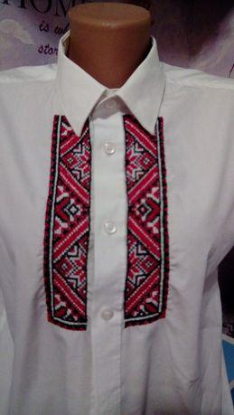Вышиванка рубашка с ручной вышивкой