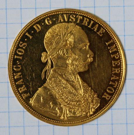 монета 4 дуката (ducat) 1915 года,золото