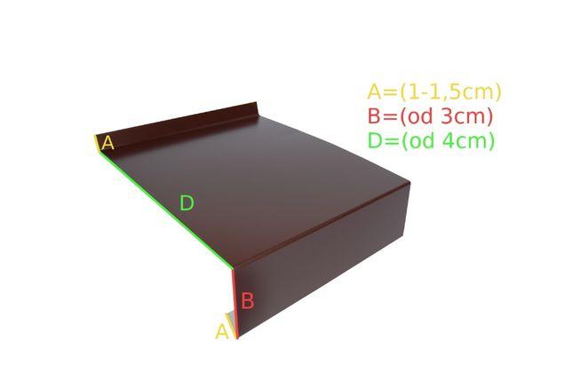 Parapet zewnętrzny blacha powlekana kolor brąz 8017 grafit 7016 , 7024