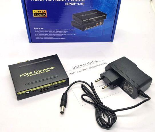 HDMI в SPDIF(оптику) Преобразователь конвертер цифрового аудио-тюльпан