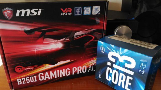 Bundle MSI B250I Gaming Pro AC Wi-Fi + INTEL i3 7100 3.9 GHz