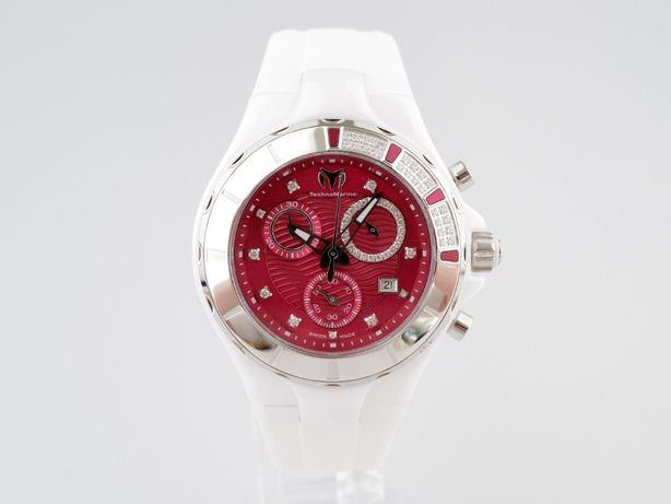Женские новые часы TechnoMarine Cruise Chronograph Red 40 мм