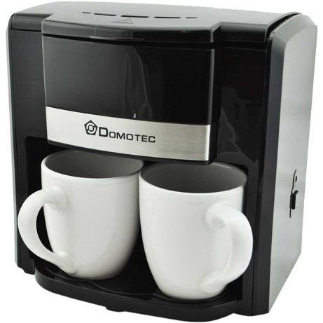 Кофеварка Domotec Черная , 2 керамические чашки по 150мл
