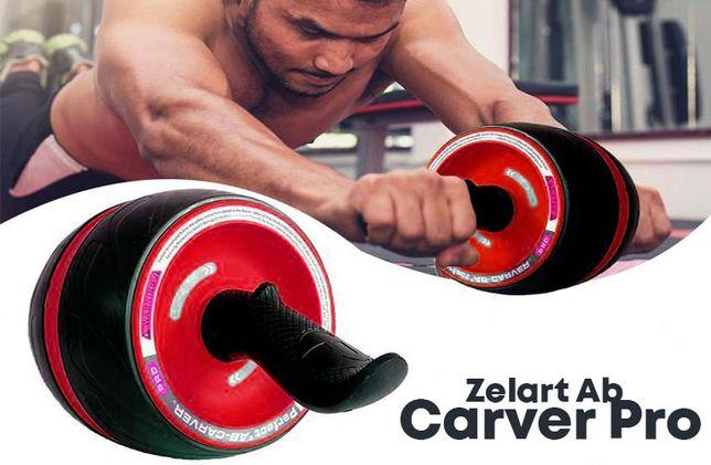 Тренажер ролик (колесо) для пресса с возвратным механизмом Carver Pro