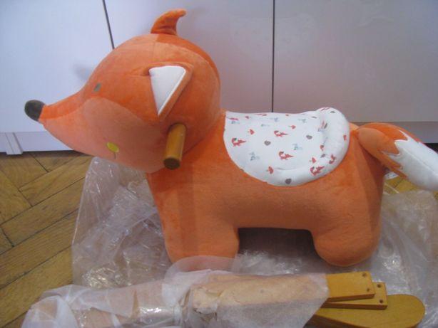 Nowa pluszowa zabawka lisek na biegunach - płozach