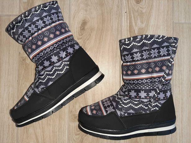 Сапоги дутики ботинки зимние на меху 24,5 см 25 см