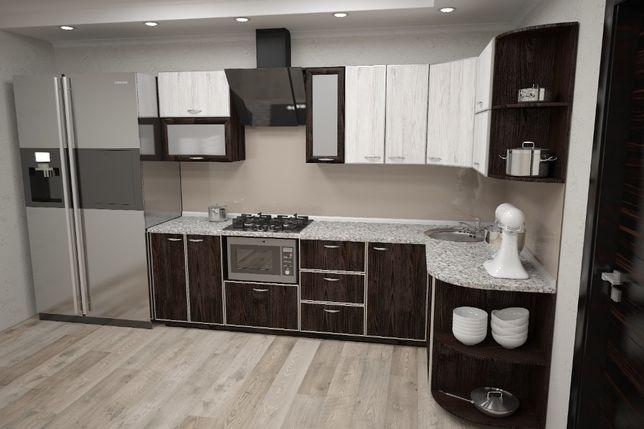 Кухня ЛДСП в алюминиевом профиле
