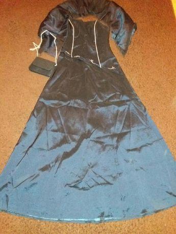 Granatowa sukienka + szal i torebka GRATIS studniówka wesle sylwestra