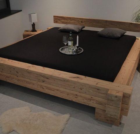 Łóżko z belek sypialnia