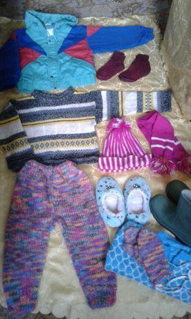Пакет! Детские вещи, теплые 3-4-5 лет! Детская одежда, на девочку;