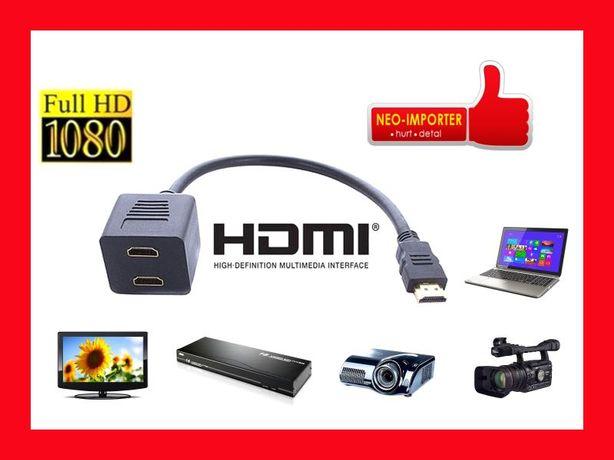 Rozgałęźnik 2F HDMI HDTV rozdzielacz GOLD Super jakość HD