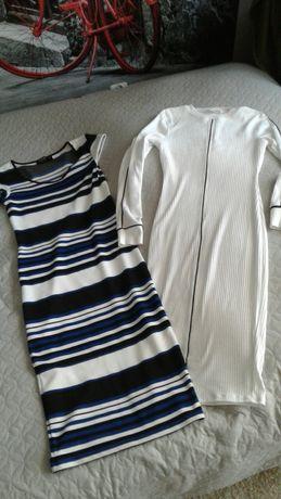 Dopasowane  sukienki , do kolan,  rozmiar xs/s