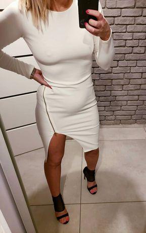 Biała sukienka Missquided