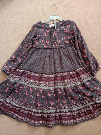Шикарное платье topolino на 6-7лет