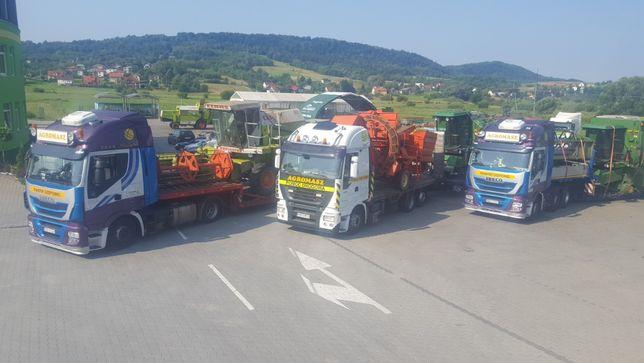 Tranport kombajnów,maszyn rolniczych budowlanych