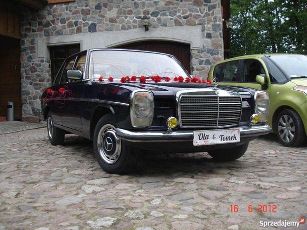 AUTO DO ŚLUBU-Zabytkowy Mercedes W115 z poł lat 70-tych