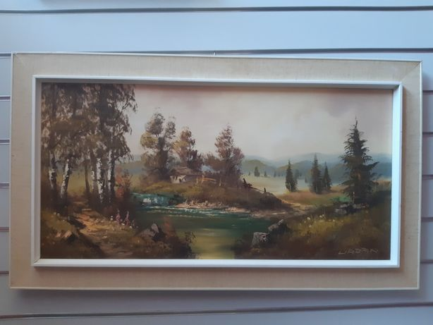 Obraz olejny na płótnie w drewnianej ramie
