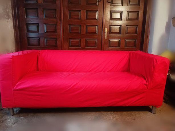 """Sofa dwuosobowa """"Klippan"""" Ikea czerwona"""