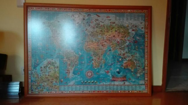 Quadro puzzle mapa mundo