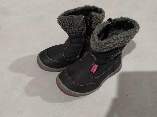 Buty kozaki czarne rozmiar 22 dla dziewczynki