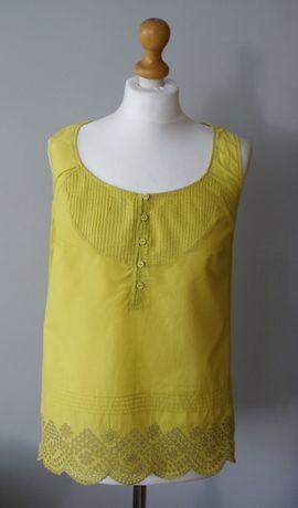 Kanarkowa bluzka Top Marks & Spencer Limonka koronka lato