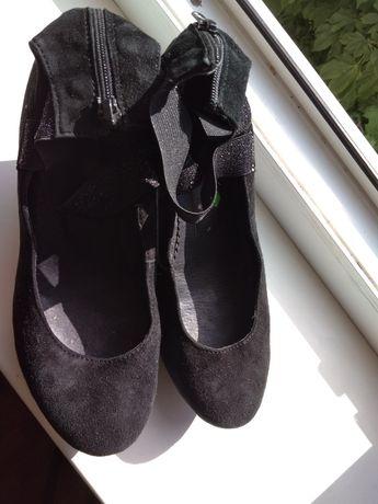 Туфли кожа р 37.5 слипоны
