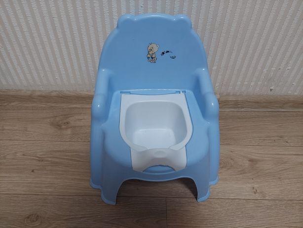 Горшок стульчик голубой
