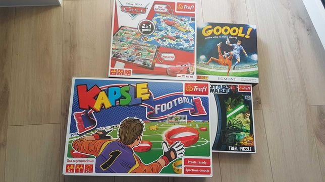 Gry Planszowe Goool Auta Cars Star Wars puzzle Kapsle Footbool zestaw