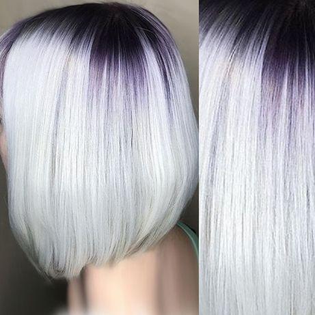 Покраска волос Балаяж Шатуш Омбре Выход из чёрного в Блонд.