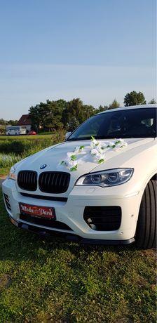 Auto do ślubu BMW X6M piękne biale
