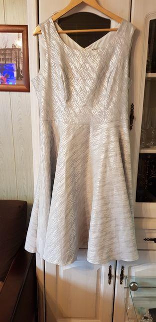 Sukienka srebno szara