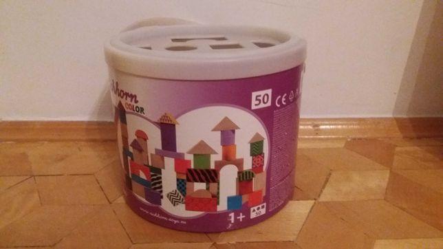 Klocki drewniane kolorowe Eichorn sorter 50 elementów