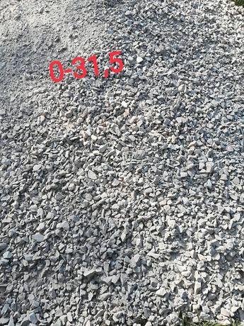 Kruszywo 0-31/0-63 kliniec oraz żwir płukany 8-16/16-32 drenarski