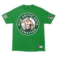 WWE Футболка рестлера Джона Сина, John Cena, Salute, зеленая
