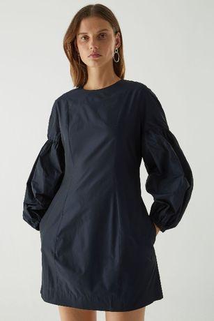 Платье cos с объемными рукавами цвет navy