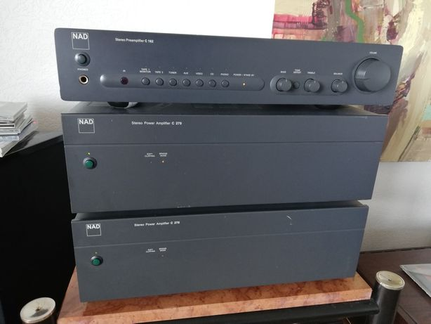 Końcówki mocy NAD C270+przedwzmacniacz NAD C162. 300Watt.