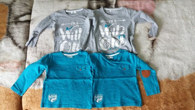 Bluzeczki dla bliźniaków 92