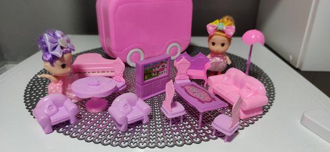 Zabawka Mini Walizka zestaw z lalkami lub konikiem