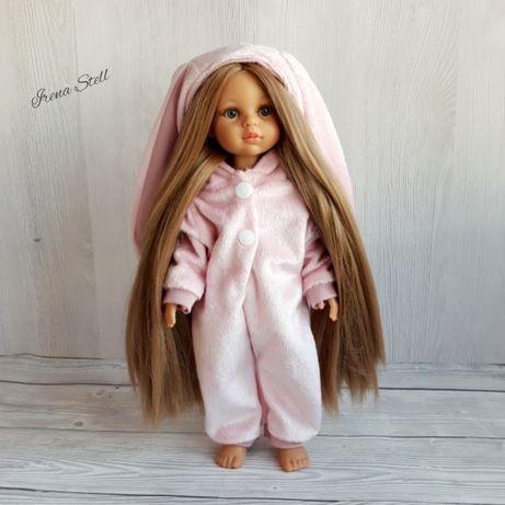 Ubranka kigurumi piżama Pudrowy Róż lalka Paola Reina Zajączek