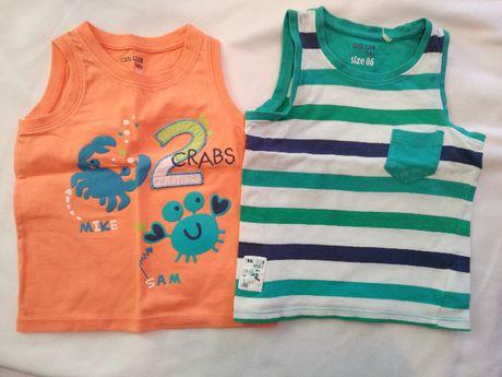 Dwie koszulki na ramiączka dla chłopca w rozmiarze 86, Coolclub