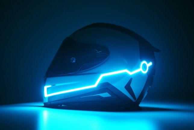 Oświetlenie kasku neon Blue