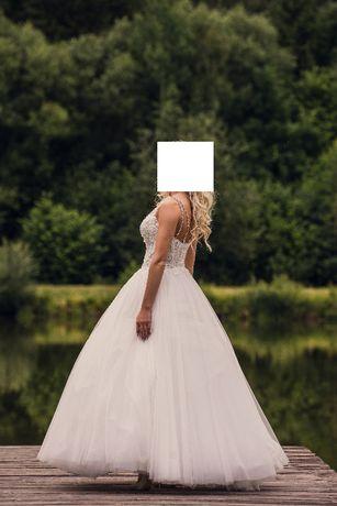 Suknia Ślubna Maxima REWELACYJNA 34-36 Xs-S nowa 6tys