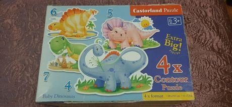 Big extra Duże Puzzle Dinozaury DINOZAUR dino 4szt