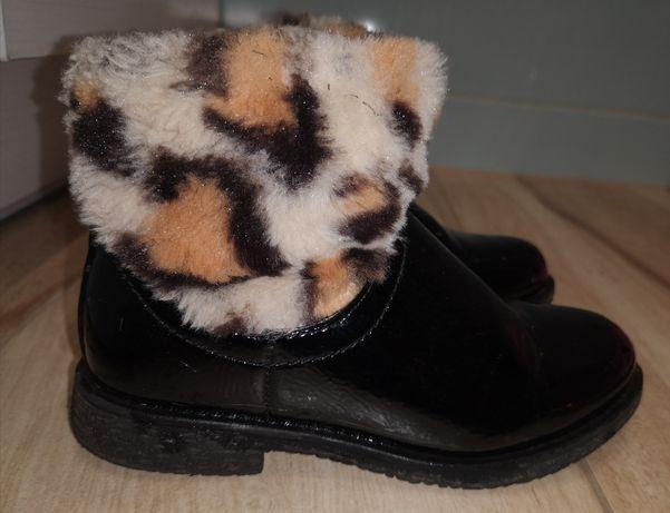 Reserved botki pantera 28 futerko lakierowane