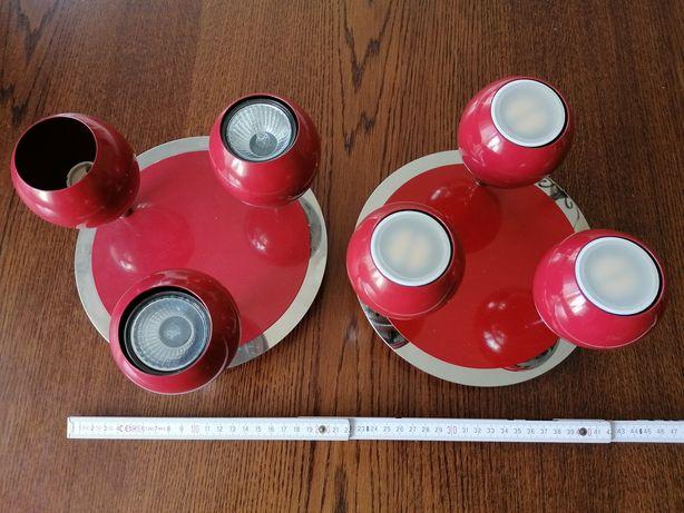 Lampa sufitowa szt. 2 młodzieżowa czerwona
