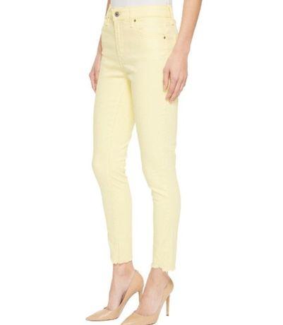 Новые женские желтые джинсы скинни 27 26 р обмен