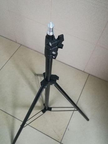 Штатив 2м для кольцевой лампы раскладной алюминиевый лёгкий прочный