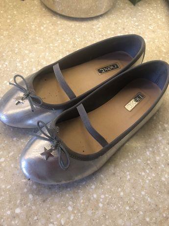 Туфли для девочки серебрянные Next