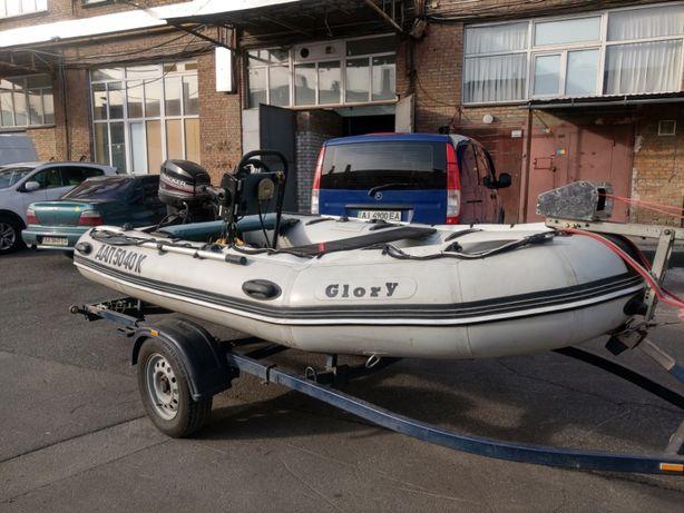 Надувная лодка Glory + двигатель